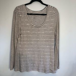 OLD NAVY Long Sleeve sequined tee shirt Sz. Large